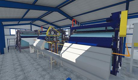 Рис.1 - Вид Цеха механического обезвоживания внутри - 3D - модель